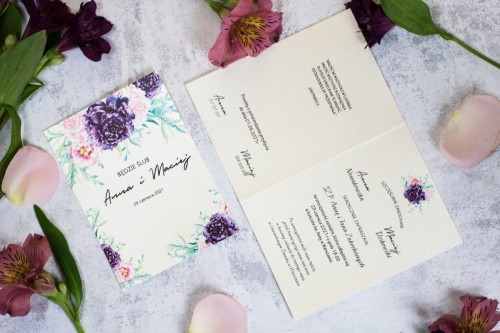 zaproszenie-slubne-kremowy-roz-fiolet