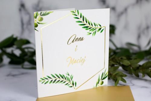 zloto-oliwka-zaproszenie-slubne