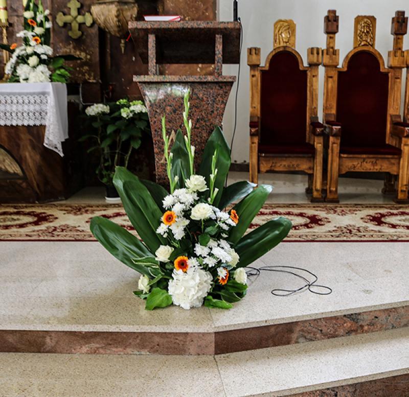 dekoracja ambona ślub gerbera warszawa