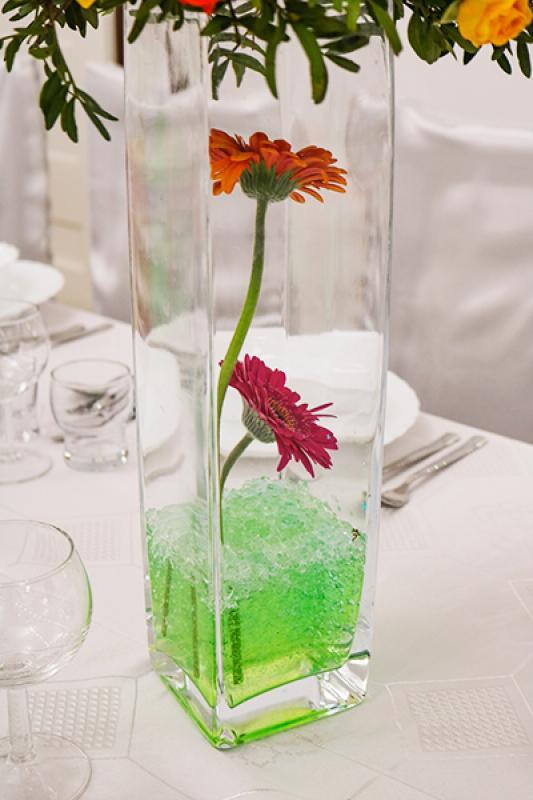dekoracje ślubne gerbery