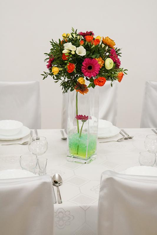 gerbera dekoracja stołu gości