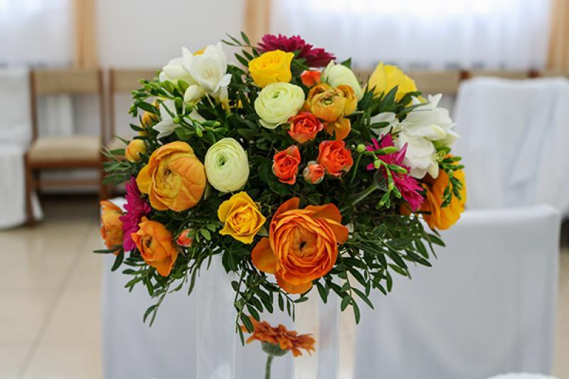 gerbera dekoracja stołu warszawa wesele