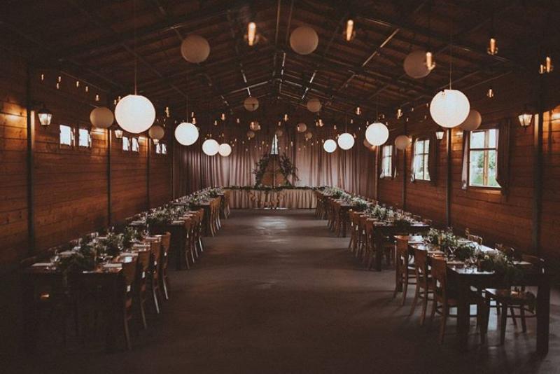 dekoracje weselne boho dekoracja sali weselnej żarówki lampiony