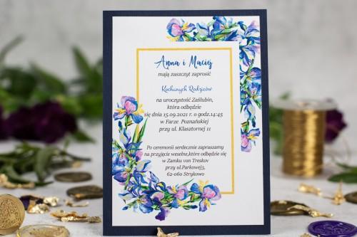 zaproszenie-slub-kwiaty-granat