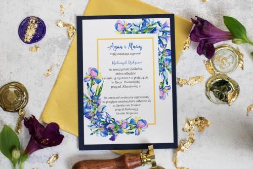 zaproszenie-slubne-granatowe-kwiaty