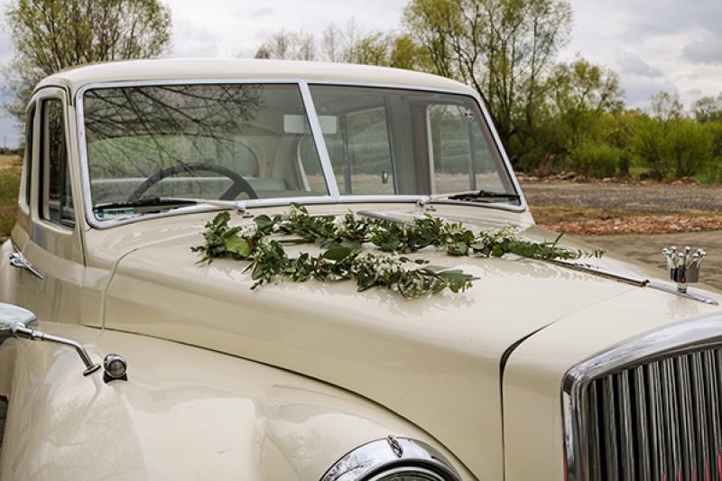 dekoracja auta warszawa greenery