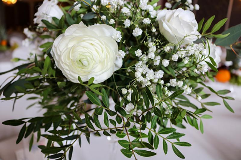kwiaty na stół greenery