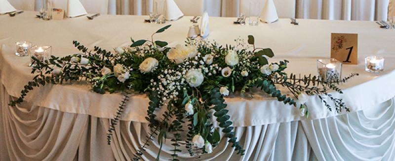 stół wesele greenery