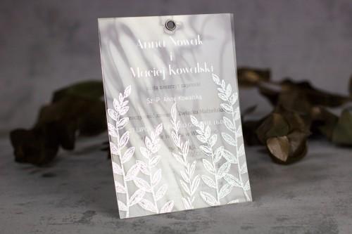zaproszenie ślubne srebro folia