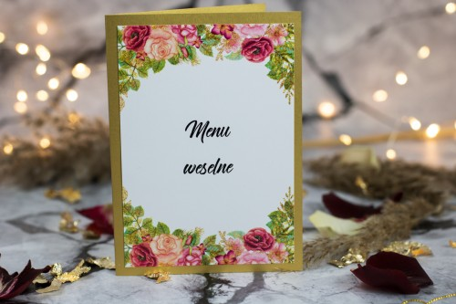 menu-weselne-kwiaty-zloto-zaproszenie-slubne