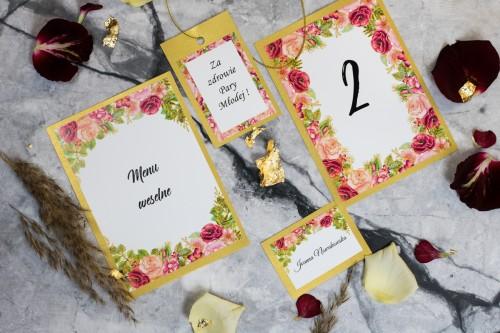 papeteria-weselna-kwiaty-zloto-boho