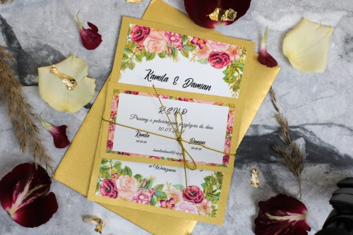 zaproszenie-na-slub-kwiaty-zloto