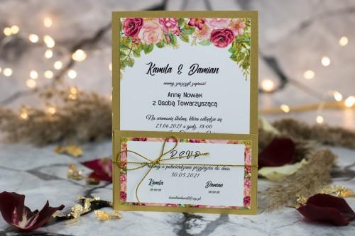 zaproszenie-slubne-zloto-kwiaty