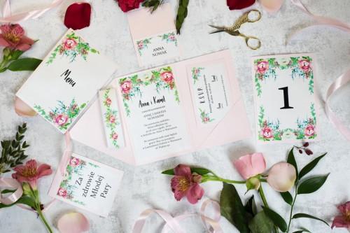 papeteria-slubna-rozowe-kwiaty-zaproszenie