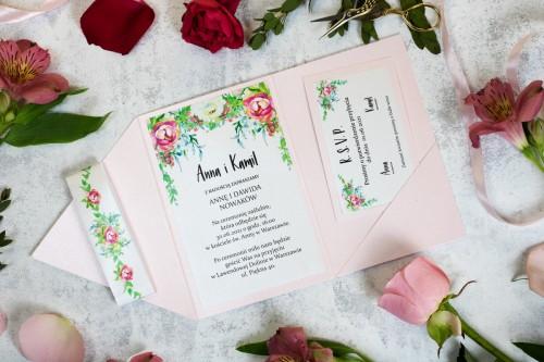rozowe-kwiaty-zaproszenie-slubne