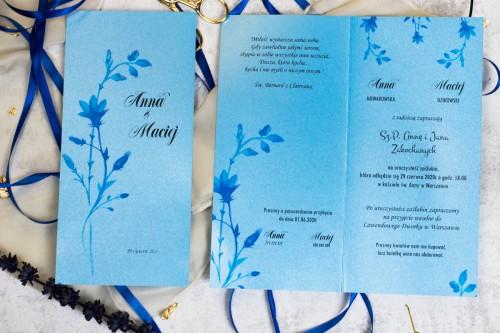 niebieskie-kwiaty-slubne-zaproszenie