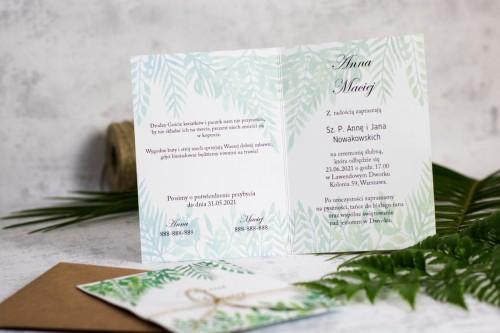 lisc-paproci-zaproszenie-slubne