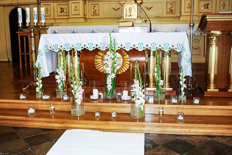 ołtarz mieczyki ślub warszawa