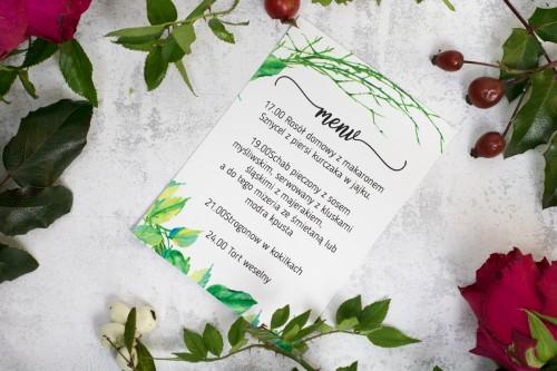 menu na wesele patyki liście
