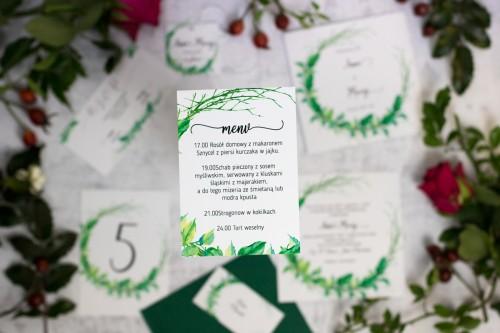 menu weselne liście