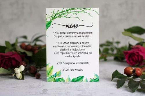menu weselne patyki liście