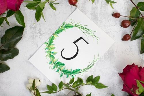 numerek stołu liście patyki