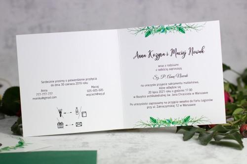 zaproszenie na ślub liście