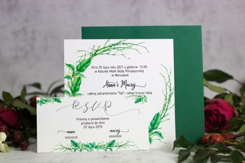 zaproszenie ślubne patyki koperta