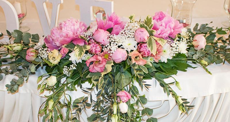 dekoracja peonie wesele warszawa