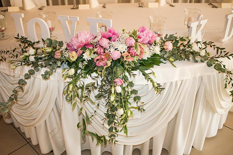 dekoracja ślubna warszawa peonie eustoma