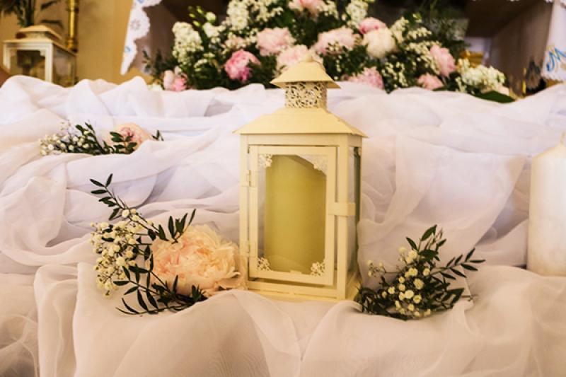 latarnie na ślub warszawa  peonia