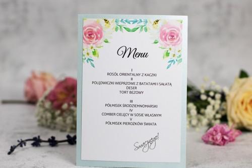 menu-weselne--jasny-niebieski-kwiaty