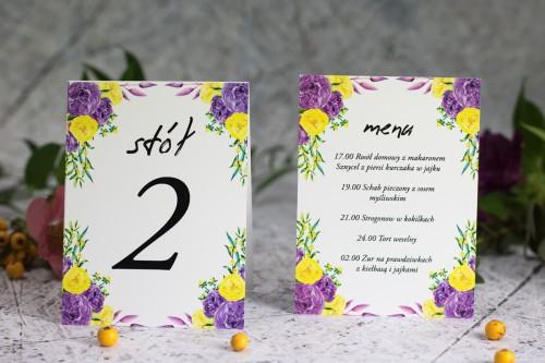 menu-numer-stolu-fioletowe-roze