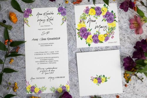zaproszenie-slubne-fioletowo-zolte-kwiaty