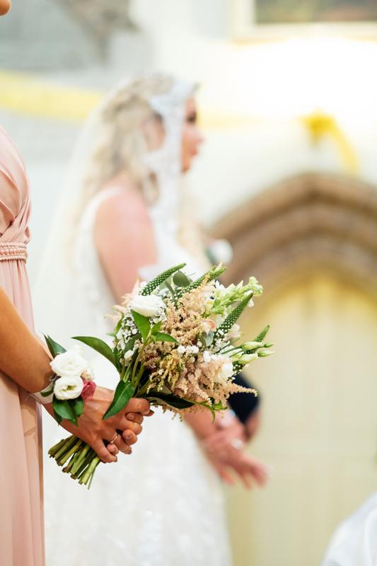 bukiet dla świadkowej dekoracje różowy ślub