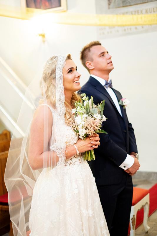 bukiet do ślubu dekoracje różowy ślub