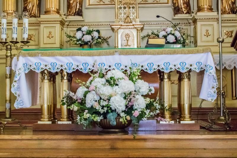 dekoracja ślubna warszawa kościół