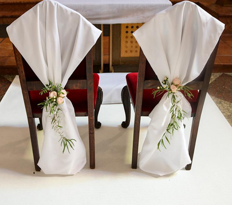 dekoracja krzeseł warszawa ślub