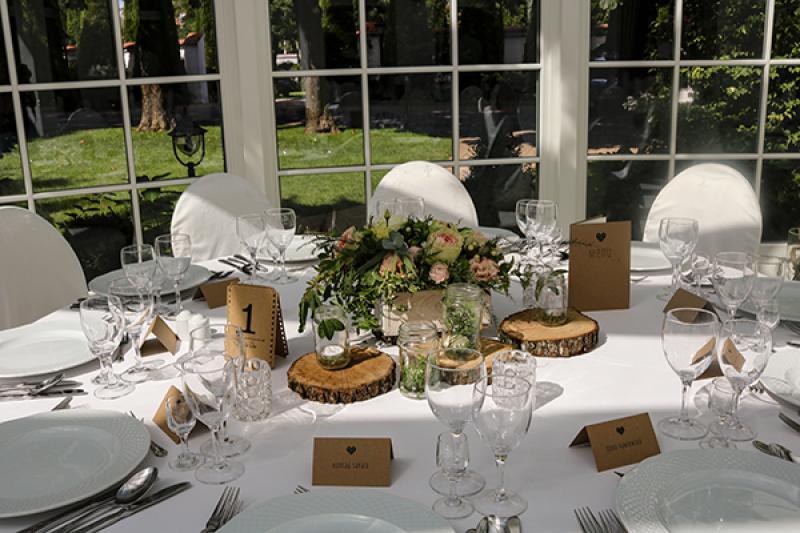dekoracja stołu wesele rustykalne