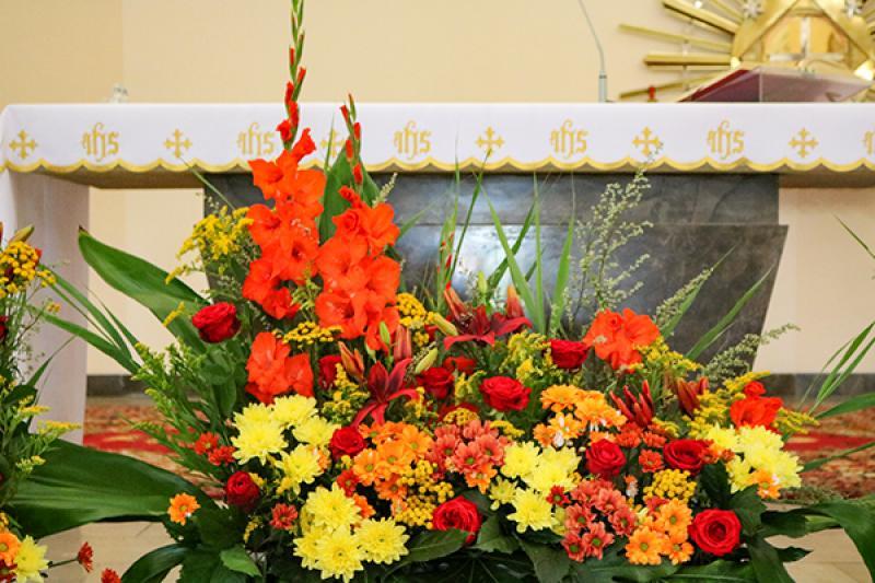 boho kościół ślub