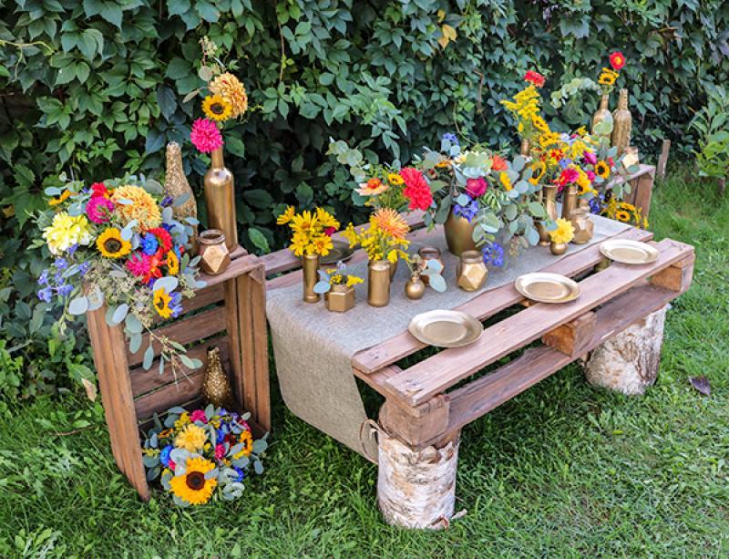 rustykalne dekoracje ślubne boho