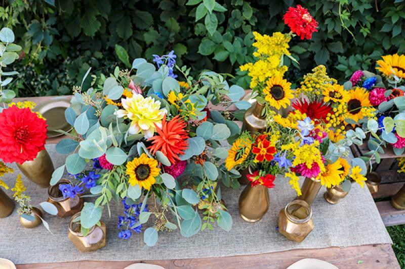 ślub kwiaty boho