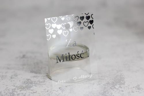zawieszka wódka weselna srebro transparentna