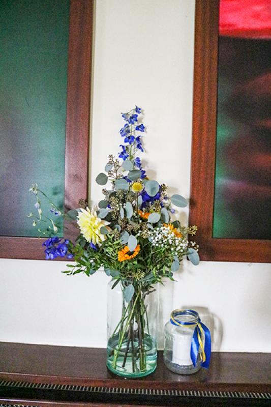 bukiet dekoracje weselne słoneczniki