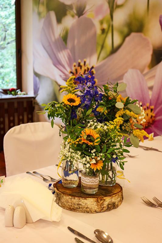 dekoracja weselna warszawa ostróżki słoneczniki