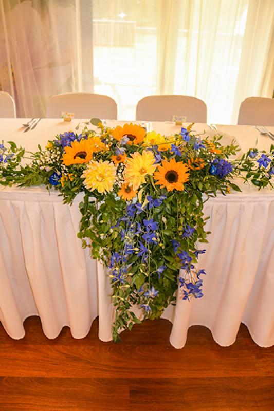 rustykalna dekoracja stołu młodych warszawa