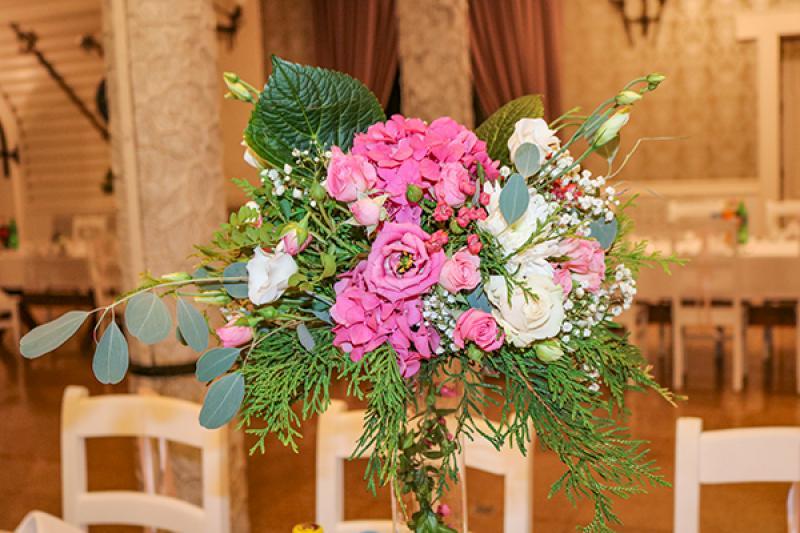 dekoracja sali hortensja warszawa
