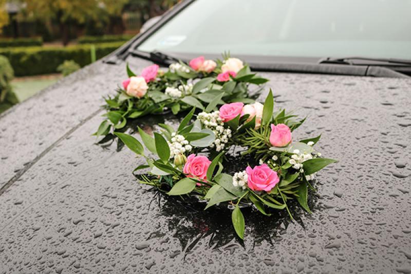 dekoracja samochodu warszawa wianki
