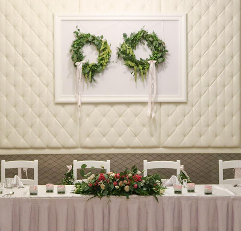 dekoracja stołu młodych warszawa wianki boho