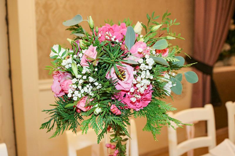 dekoracje stołu boho warszawa  kwiaty